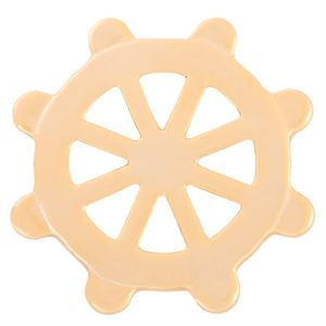 Picture of Large Gold Nautical Wheel Screen